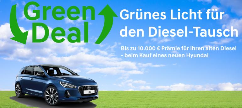 Der Green Deal bei Hyundai – Bis zu 10.000 € Prämie