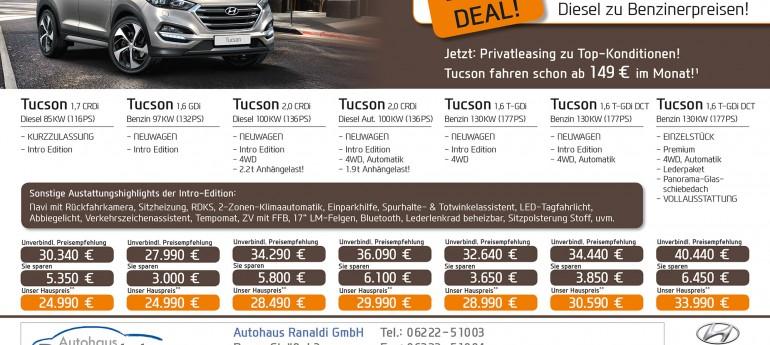 Der Tucson Diesel Deal!